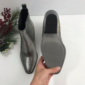 sinclair metallic embossed leather